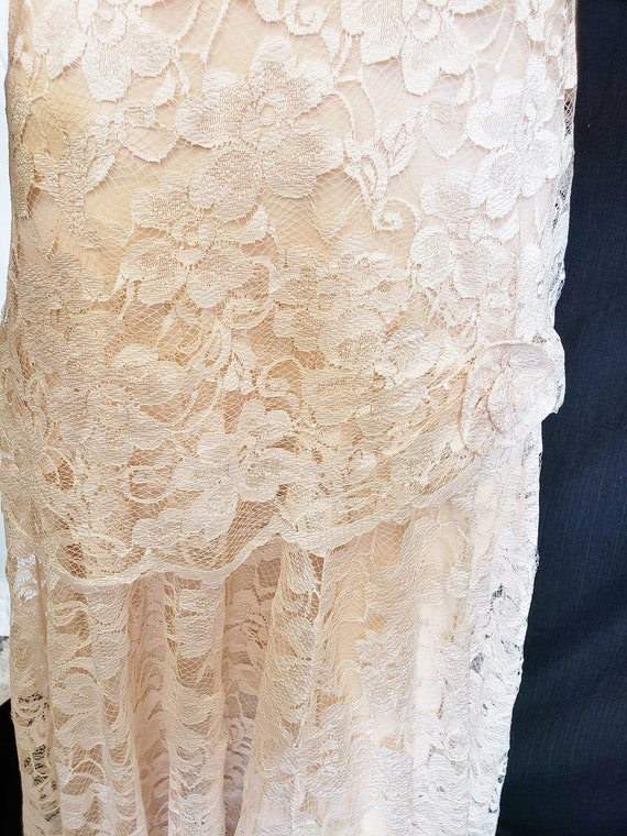 Roaring 20's Lace Flapper Dress - image 3