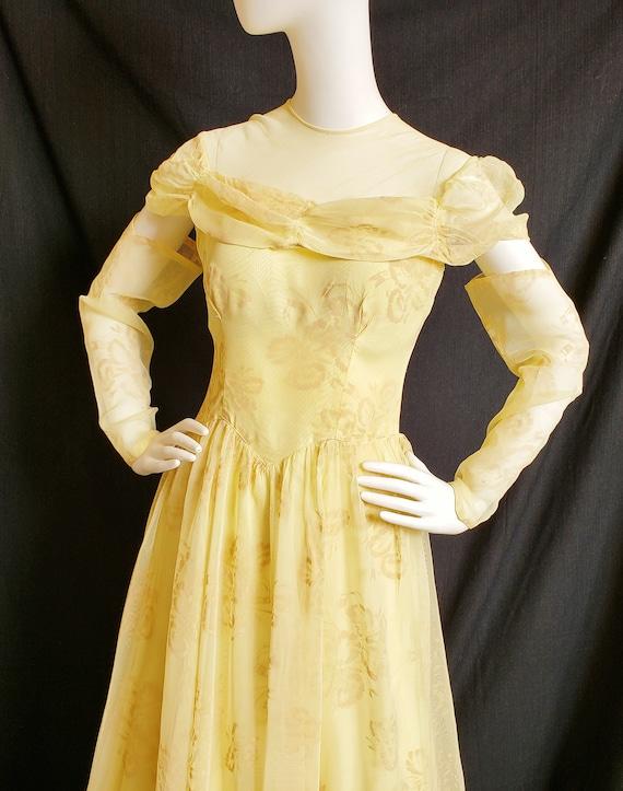 1930's Golden Irresistible IRIS Formal and Gauntl… - image 7