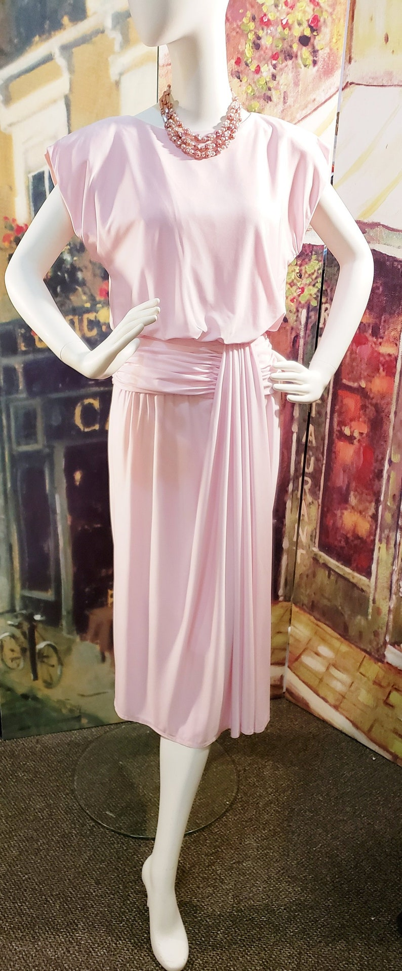 500 Vintage Style Dresses for Sale | Vintage Inspired Dresses PRETTY in PINK 1940s Style Dress SophisticatedLaRue $68.00 AT vintagedancer.com