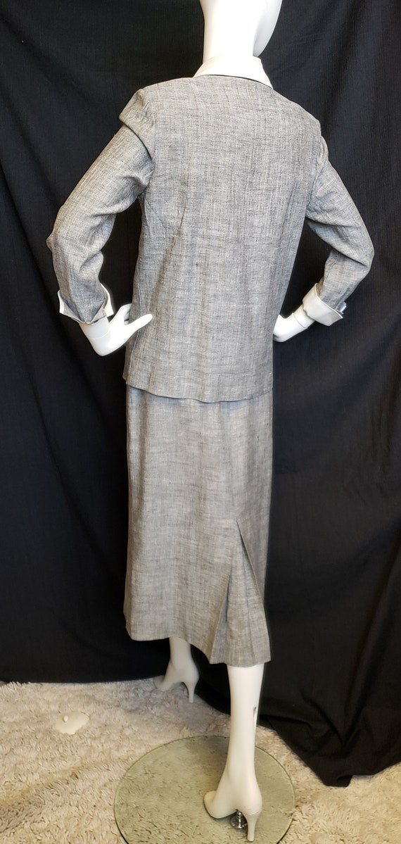 Irish Linen Ladies Suit - Mid-Century  1950's - image 7