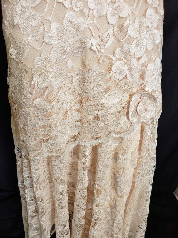 Roaring 20's Lace Flapper Dress - image 7