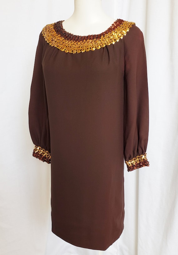 1960's Sheath Dress, Egyptian-Style