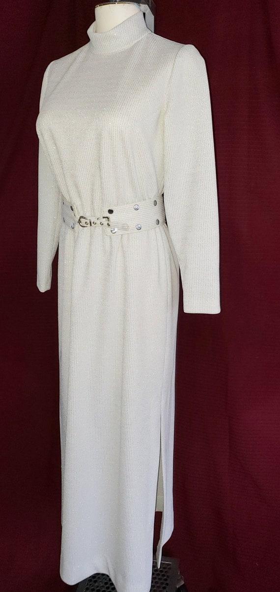 Sparkly, Shimmering Silver Lamé Dress - 1970's Era