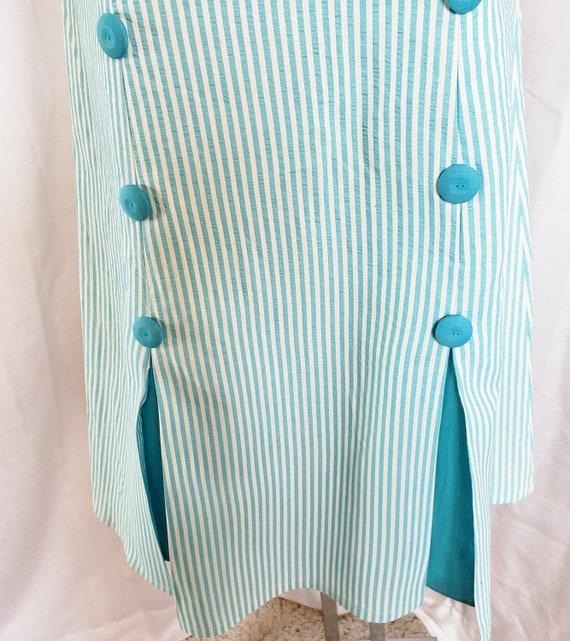 Daisies & Seersucker Summertime Day Dress  1960's - image 5