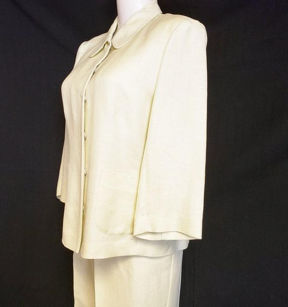 Linen Lime-Light Emma James Pant Suit - Mid-Centu… - image 7