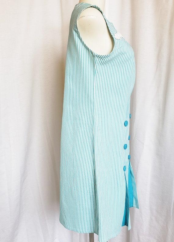 Daisies & Seersucker Summertime Day Dress  1960's - image 9