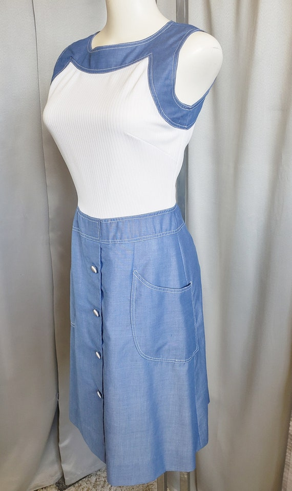 Serbin of Florida Fabulous Denim & Knit Dress  196