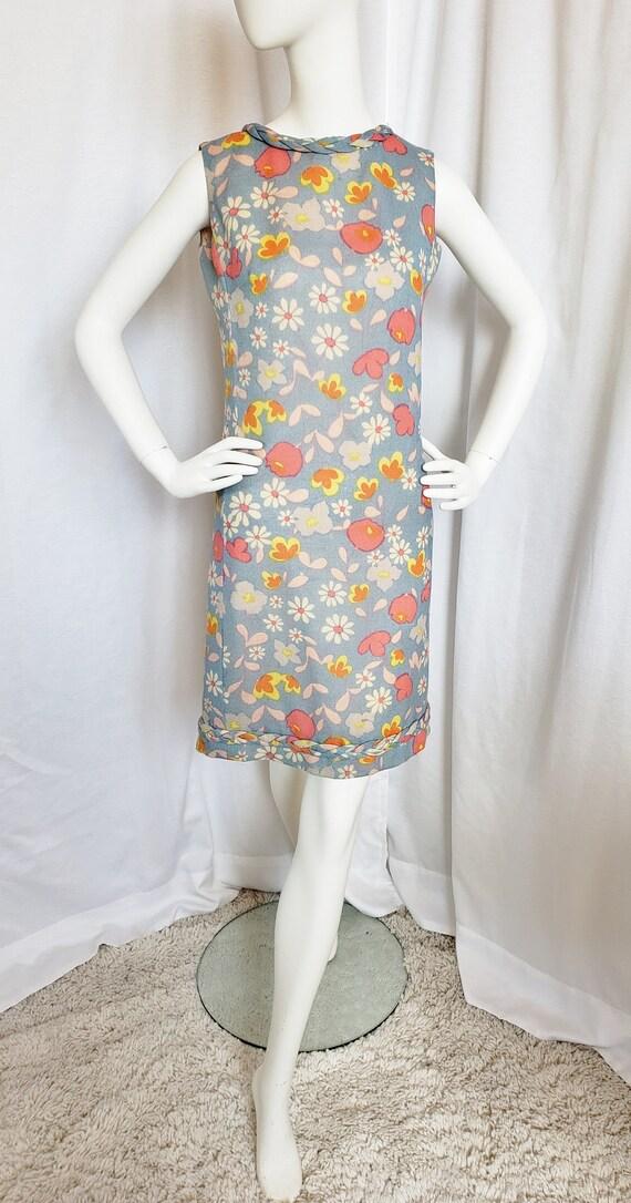 PECK & PECK Flower Power MOD 1970's Dress