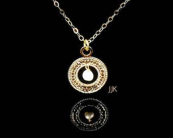 Micro Macrame Hebrew Jewelry Leather Bracelet,Gold Bracelet,Kabbalah Bracelet Gold Coin on Smokey Mettalic Teal Leather, Jewish Jewelry