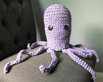 Inky the crochet squid