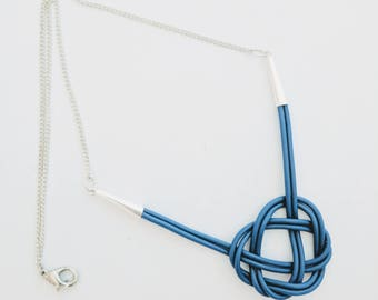 Blue Celtic Knot Laptop Cable Necklace