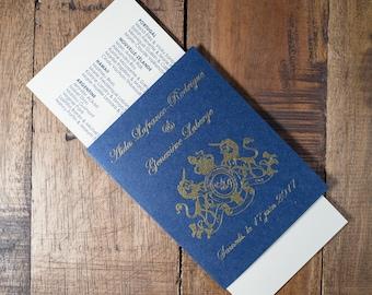Passport And Boarding Pass Wedding Program, Destination Wedding Program, Travel Wedding Program, Passport Wedding Program, Boarding Pass
