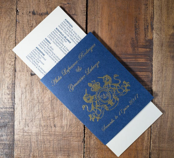 Passport And Boarding Pass Wedding Program Destination