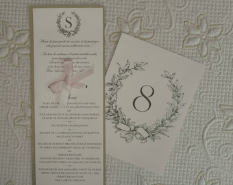 Traditional Table Number, Traditional Wedding Table Number, Elegant Wedding Table Number, Elegant Table Number, Chic Wedding Table Numbers