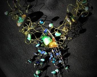 """Diva"" starry night necklace"
