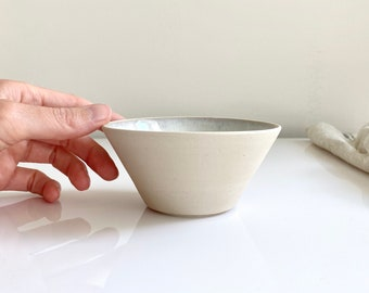 Handmade ceramic bowl with crystal glazing