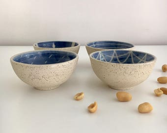 Snack bowl or ceramic nut bowl - made to order.