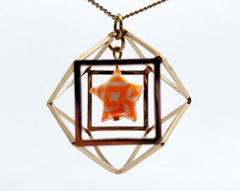 Origami star and gold necklace