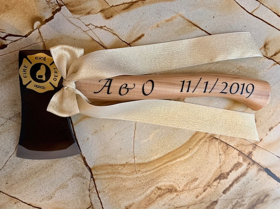 Wedding Cake Cutter Axe For Firefighter Wedding Etsy