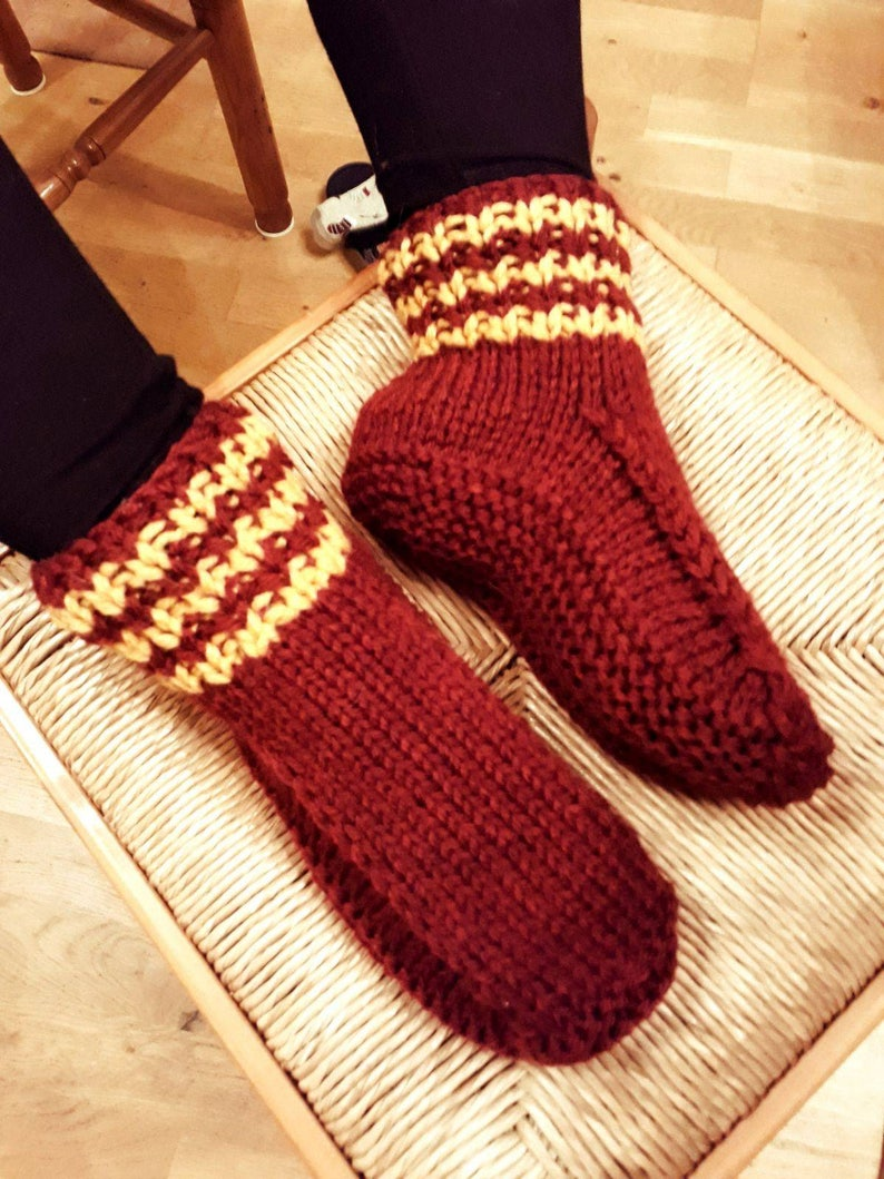 429d6850aa9a97 Harry Potter Inspired Gryffindor Hand Knitted Wool Blend