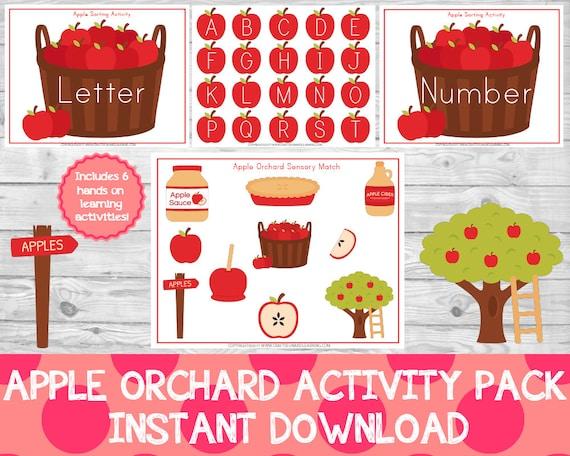 Apple Orchard Activity Pack Apple Preschool Pack Apple