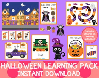 Halloween Learning Pack, First and Second Grade Pack