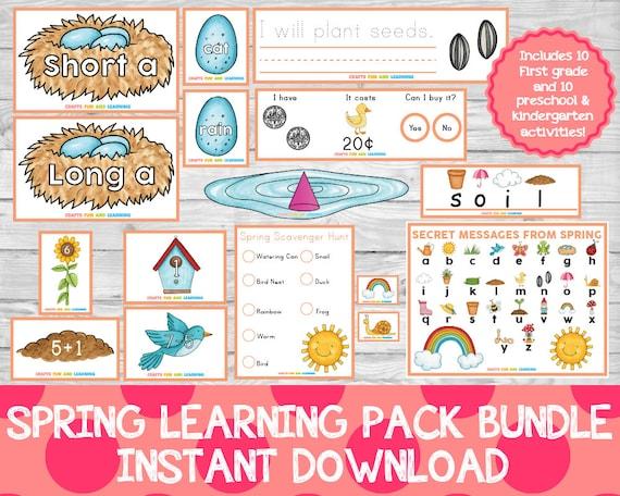 Spring Learning Pack Bundle Preschool Pack Learning Pack