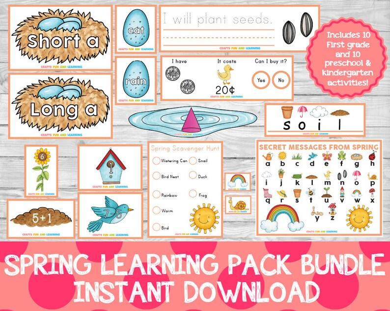 Spring Learning Pack Bundle Preschool Pack Learning Pack image 0