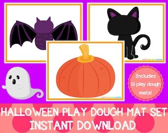 Halloween Play Dough Mats Set