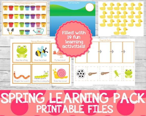Spring Learning Pack Spring Preschool Pack Learning