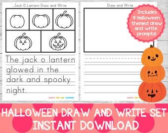 Halloween Draw and Write Set