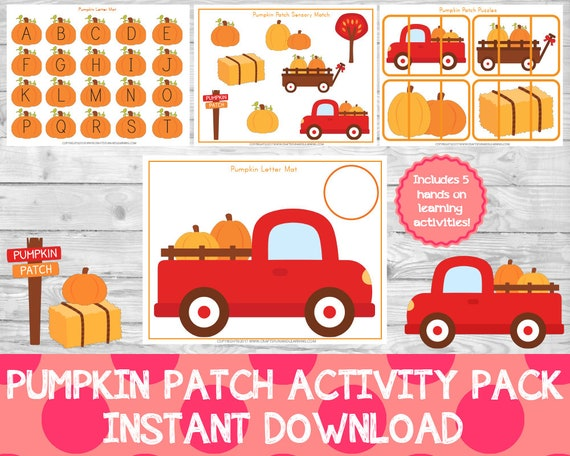 Pumpkin Patch Activity Pack Fall Preschool Pack Fall