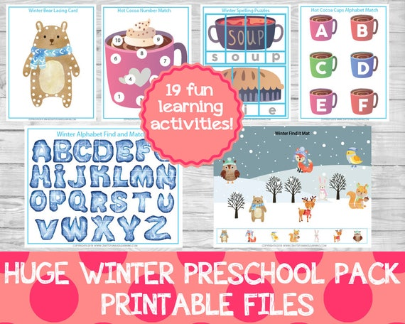 Huge Winter Preschool Pack Winter Preschool Activities