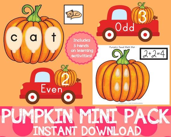Pumpkin Mini Pack Pumpkin Learning Pack Fall Preschool Pack