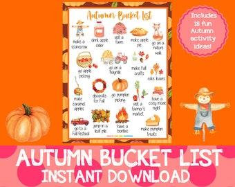 Autumn Bucket List, Fall Bucket List