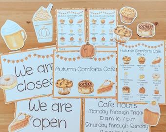 Autumn Comforts Café Pretend Kit