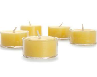 handmade 100% Organic Raw Beeswax tea light candles 20 pack