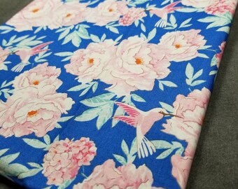 55b8808385 Tilda Fabrics Lemontree Hummingbird Blue  100003 new 100% cotton quilting  fabric BTHY