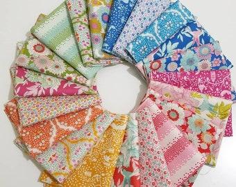 00bc89b317 Tilda LEMONTREE 20 Fat Eighth or Fat Quarter bundle quilting fabric Tone  Finnager