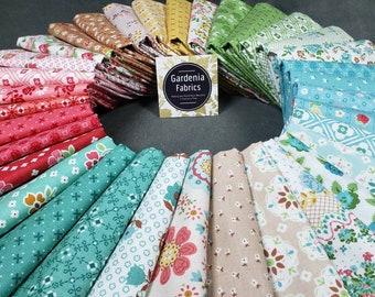 Granny Chic Lori Holt Fat 18 Bundle 26 Piece Riley Blake Pink Brown Blue Green Yellow Floral