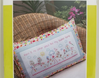 Melly and Me MY SWEET HOME Pillow new craft pattern #MM1124