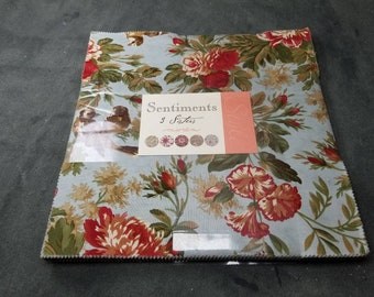 3 Sisters SENTIMENTS layer cake 10 inch stacker square of new cotton quilting fabric by Moda
