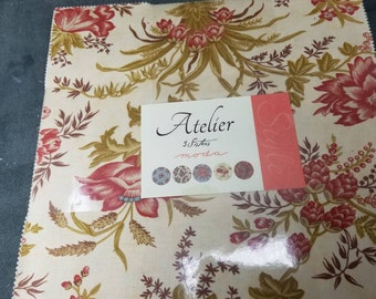 3 Sisters ATELIER layer cake 10 inch stacker square of new cotton quilting fabric by Moda