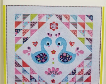 Melly and Me SWEET LITTLE SWANS Quilt new craft pattern #MM143