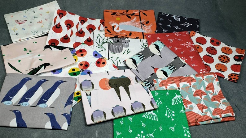 Best of CHARLIE HARPER 14 Fat Quarter bundle Birch Fabric Organic Cotton Poplin Fabric 100/% organic