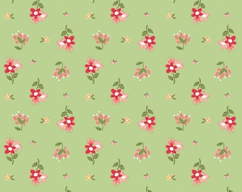 Summer Blush Green pink floral by Sedef Imer for Riley Blake new 100% cotton quilting fabric yardage