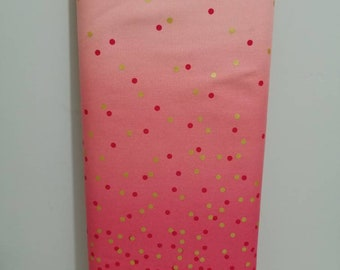 V and Co Confetti ombre HOT PINK; new 100% cotton quilting fabric #10807-14M