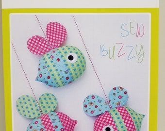Melly and Me SEW BUZZY Bees new craft pattern #MM712