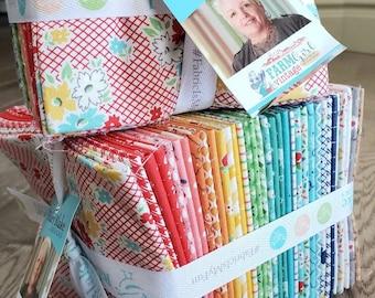 FARM GIRL VINTAGE - 34 Fat Quarter bundle - Lori Holt - 100% cotton quilting fabric bundle - Riley Blake Designs