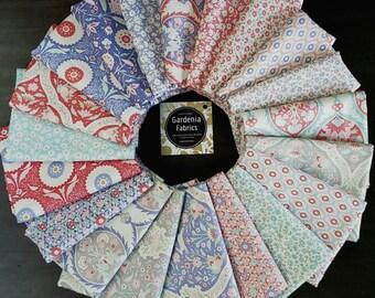 BON VOYAGE - 20 Fat Quarter bundle - Tilda - Tone Finnager - precut 100% cotton quilting fabric